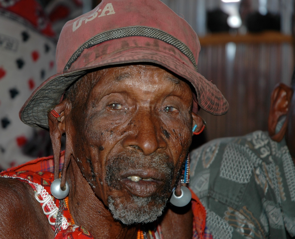 an elderly maasai friend of ctc's waiting to be seen at our medical clinic
