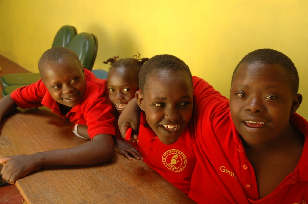 some of the malaika kid crew chillin' in class