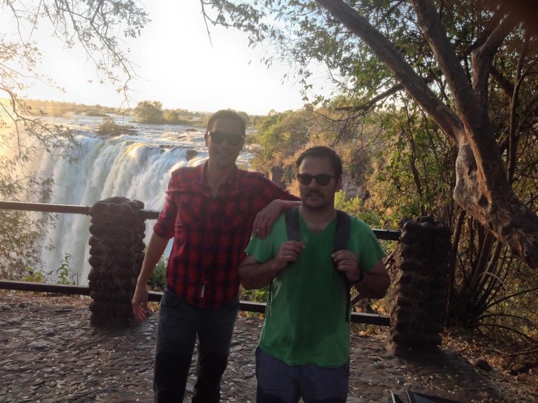 Steve & me at Victoria Falls
